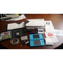 Nintendo Dsi Na Caixa Manuais Jogos Acessórios + Cartão