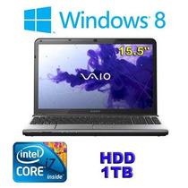 Notebook Sony Vaio Sve-1513kcxs I7-2.2/8/1tb/rw/15/cam/w8pg.