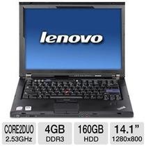 Promoção - Notebook Core 2 4gb Ddr3 Lenovo T400 Com Garantia