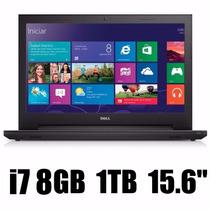 Notebook Dell Inspiron 15 I7 1tb 8gb Nvidia 4gb Tela 15.6