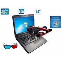 Notebook Sim+ C/ Intel Core I7 Memória 6gb Hd500gb Óculos 3d
