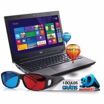 Notebook Positivo Intel Core I3, Sim, 2gb, Hd 500gb, 14 Led