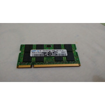 Memória 1gb Ddr2 667mhz Pc2 5300s Samsung Para Notebook
