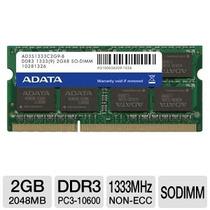 Memoria Ram Ddr3 2gb 1333mhz Adata Para Notebook Ou Netbook
