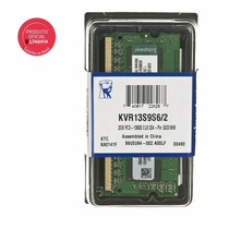 Memoria 2gb Ddr3 1333 Notebook Sodimm Kingston Kvr13s9s6/2