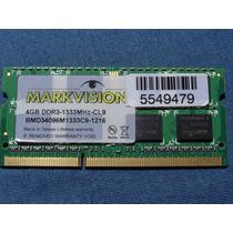 Memoria Notebook Markvision Ddr3 1333mhz 4gb Frete Gratis