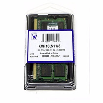 Memória Notebook 8gb Ddr3 1600mhz Kingston Low Voltage 1.35v