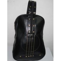 Mochila Guitarra Em Couro Pu Moda Rock Fashion Rebite Casual