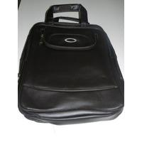 Mochila Pasta Executiva Oakley Bag Couro - Marrom/preta