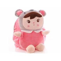 Mochila Infantil Personagem Boneca Pelúcia Criança Bebê