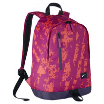 Mochila Nike Feminina Escolar Rosa Halfday Original + Nota F