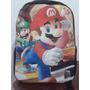 Mochila Super Mario Bross Tamanho 40x30x12 Pronta Entrega