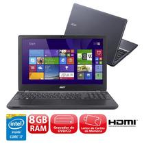 Notebook Acer Core I7 8gb 1tb Tela 15,6 4510u Windows 8.1