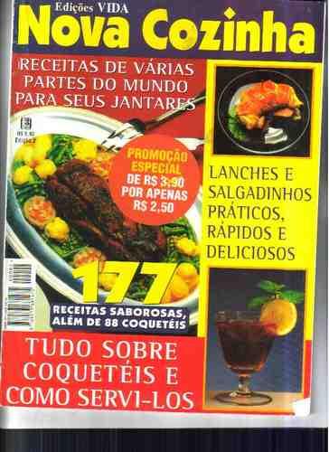 Nova Cozinha - Edições Vida - 177 Receitas Esp. Coqueteis