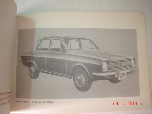 Novo Manual Ford Corcel Belina 1973 1974 Original Gt Luxo Xp