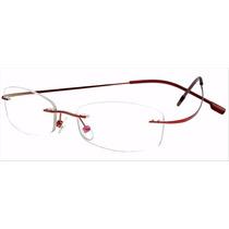 Armação P/ Óculos De Grau Sem Aro Em Titanium Só Vermelho