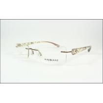 Armação Oculos Grau Sem Aro Marrom Decorada Titanium - A591