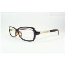 Armação Oculos De Grau Tartaruga Com Cristais Linda - A594