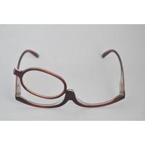 Óculos De Grau P/ Maquiagem Marrom Facilidade Fem +4,0 B77