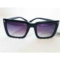 Oculos De Sol Quadrado Preto
