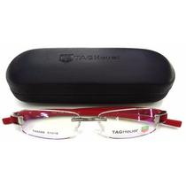 Armação Óculos De Grau Th 5069 Vermelha Hastes Emborrachadas