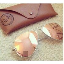 Oculos Rayban Feminino Rosa Espelhado - Óculos De Sol Barato