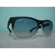 Oculos 4165 Wayfarer Justin Preto Fosco Transparente Ddê