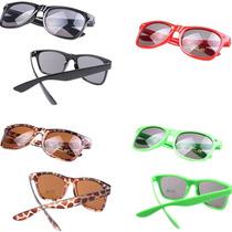 Óculos Escuros De Sol Wayfarer Retrô - Varias Cores