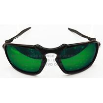 Oculos Badman Black Lente Esmeralda Polarizada Uv/uva 400