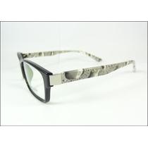 Armação Oculos De Grau Preta Da Carolina Acetato - A608
