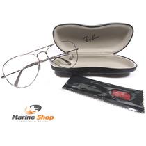 Óculos Ray-ban Original Aviador Grafite Rb 6049 L - P/ Grau