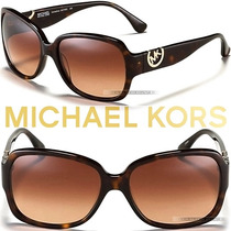 Óculos De Sol Michael Kors Mk Marrom Tartaruga Grande Novo