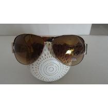 Oculos Sol Gap Aviador Armacao Dourada Lentes Marrom