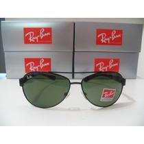 Óculos De Sol 3386 Preto Lente Verde