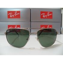 Óculos De Sol 3281 Prata Lente Verde