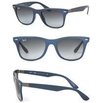 Óculos De Sol Ray-ban Wayfarer Lite Force 4195 + Case Marrom