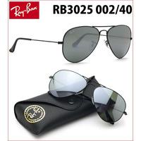 Ray Ban Aviador Rb3025 002/40 Preto Espelhado