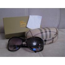 Óculos Sol Feminino Preto Prata Proteção Uv100%