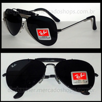 Óculos Caçador 3422q Preto Lentes Pretas G 62mm Original