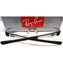 Armação De Oculos De Grau Ray-ban Rb6124 Prata+ Case+flanela