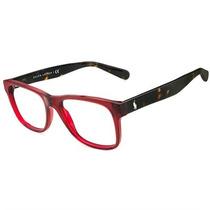 Óculos De Grau Polo Ralph Lauren Acetato Vinho