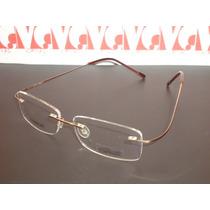 Armação Óculos Grau Silhouette Beta Titanium Flexivel Gold