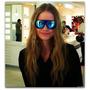 Óculos De Sol Aviador Unisex Metal Azul Ice Espelhado