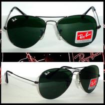 Óculos Aviador 3025 M Grafite Lente Verde Frete Gratis !!!!