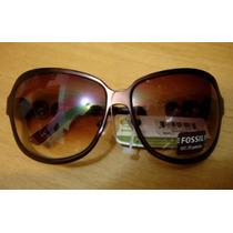 Fossil Óculos De Sol Com Strass Maravilhoso Novo