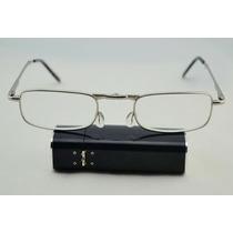Armação P/ Óculos Para Leitura Dobrável Tipo Isqueiro Preto