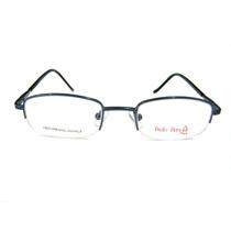 Armação Infantil Em Metal - P/ Grau - Óculos Azul Mola 180º