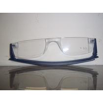 Óculos De Leitura Dobrável Twist & Read Azul Fino E Leve
