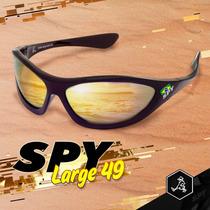 Óculos De Sol Spy Original - Largue 49 Preto Lente Espelhada