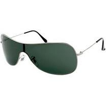 Óculos 3211 Prata Com Lentes Verdes Frete Grátis